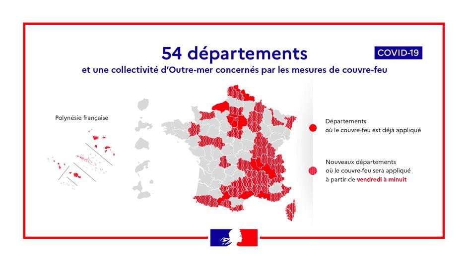 Coronavirus Covid 19 Situation En France Mesures De Couvre Feu La France Au Luxembourg
